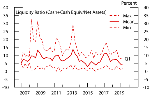 Figure 5: Liquidity: Bank Loan Funds. See accessible link for data description.