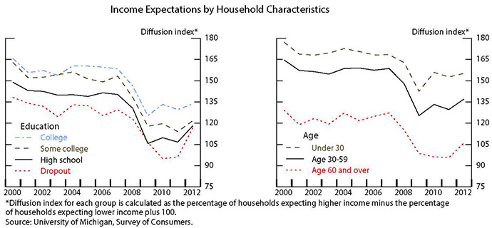 Figure 2: Income Expectations by Household Characteristics