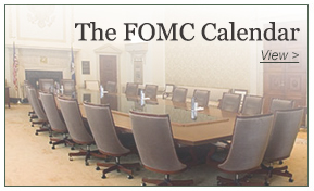 Federal Open Market Committee Calendar