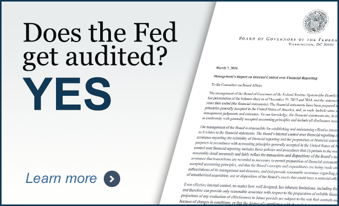 does the fed get audited