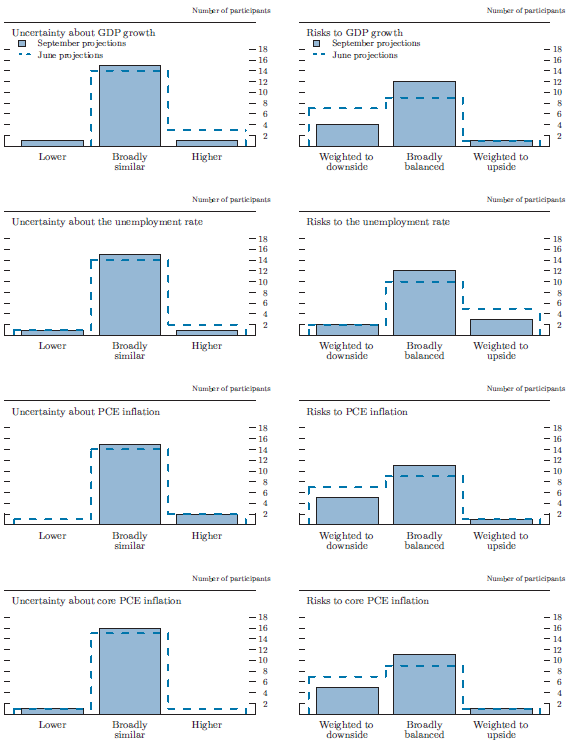 Figure 4. Uncertainty and risks in economic projections